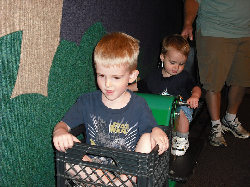 Alex was happy to have Zach push him.