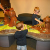 Loved playing at the dinosaur tables.