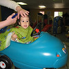 Riding the car at the hair salon