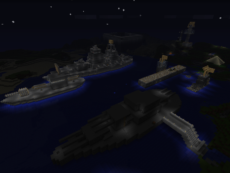 The fleet at night.