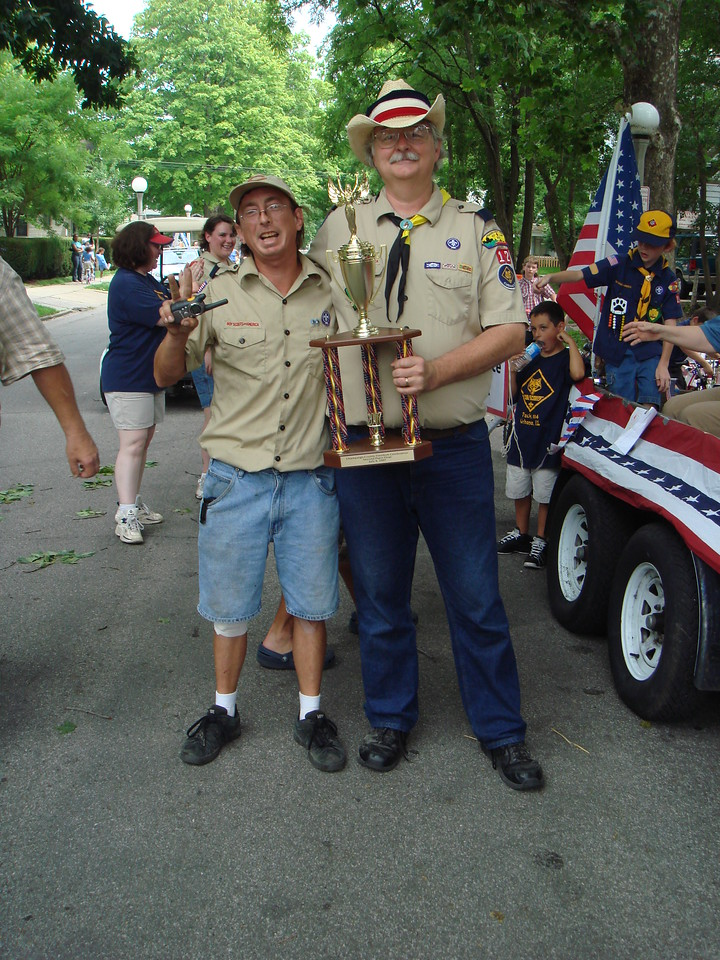 The proud scout masters