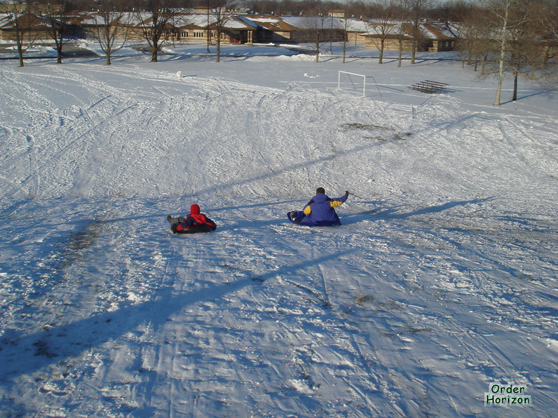 Brothers in sleds