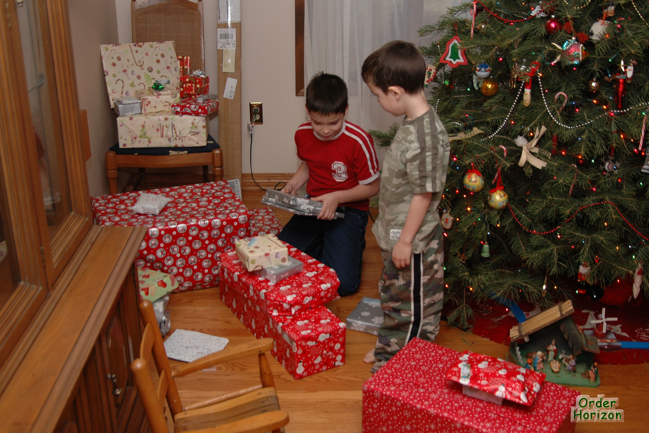 Pre-sorting the presents for faster opening