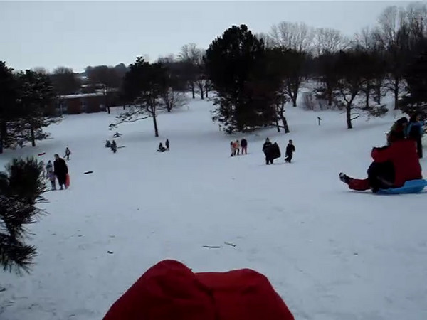 Sled run with Charles