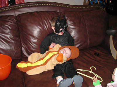 Batman and his littl hot dog
