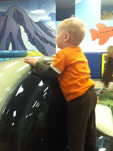 Climbing in and out of the airplanes