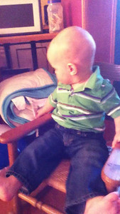Theo in his rocking chair