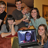 It's a weird Family Photo circa 2010.  Chris, Laura, Pete + Wes, Amy with Kelly on Megan up front.  It's our Christmas Card photo this year kids.  Who says we're not cutting edge?  LoL