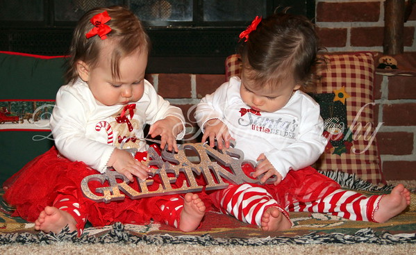 Twins First Christmas