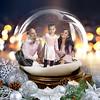 Vega Family - 8x10 Twinkling Snow Globe