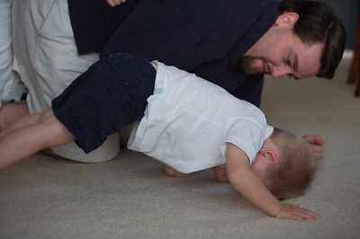 William's first push up.