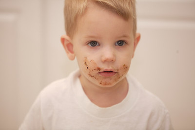 William, did you eat your cousin's birthday cupcake?  No.