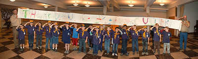 Pack 80 Wolf Cubs (2nd gr boys), Seattle. Saluting Coast Guard and Crew of CGC Healy. Nov. 10th 2011