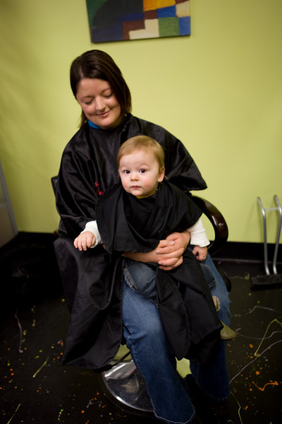 Xander's First Hair Cut Nov 2009