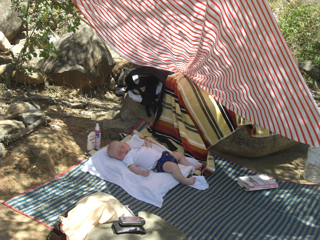 Passed out in the shade at South Yuba River