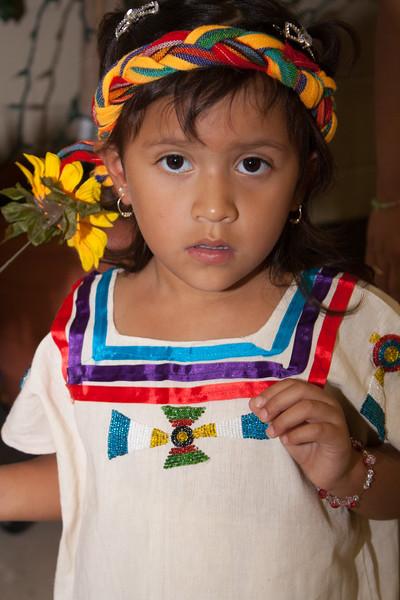 Spanish Girl in Native Attire