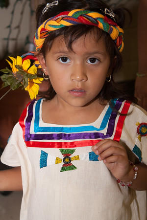 Spanish Girl in Native Attire