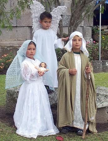 Actors for nativity scene
