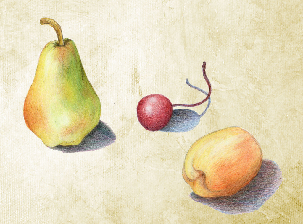 Three Pieces of Fruit