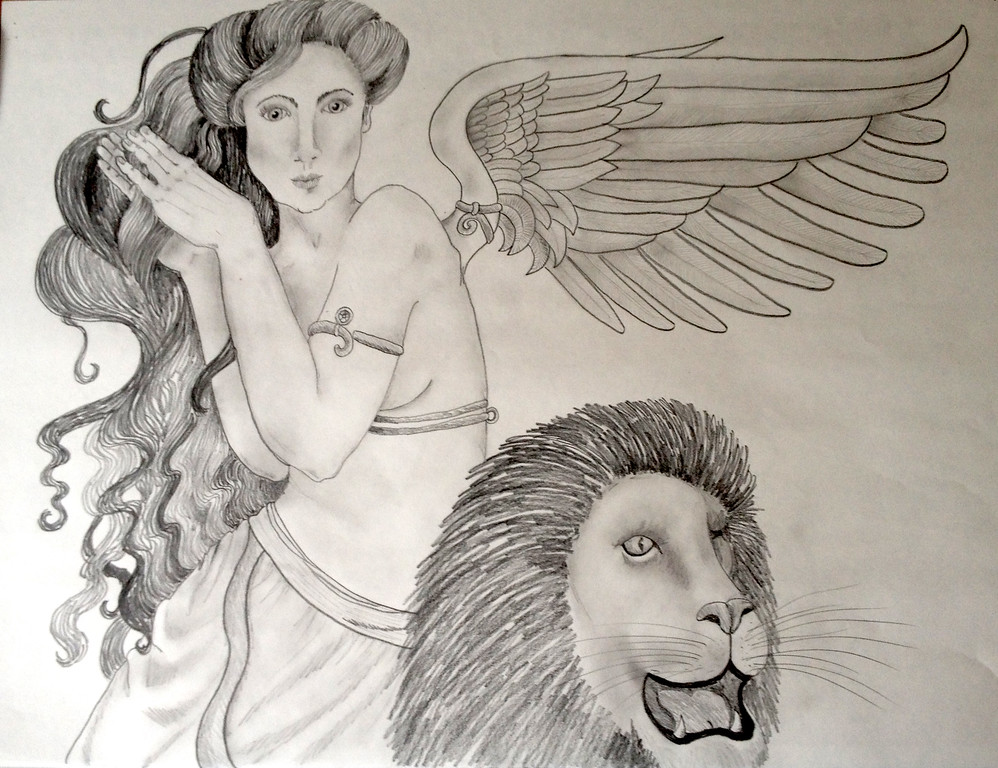 Angel with Lion