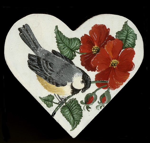 Finch With Poppies