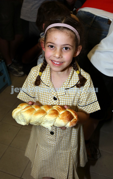 Childrens Challa Bake for The Shabbat Project held at OBK in conjunction with JEMS which attracted over 50 children. Jemma Newman with her freshly baked challah.