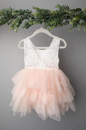 Soft Pink Angela Dress (size 12 - 24 months) BACK
