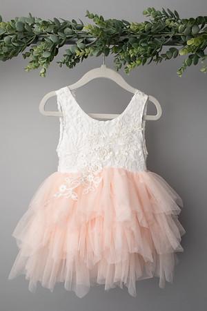 Soft Pink Angela Dress (size 12 - 24 months) FRONT