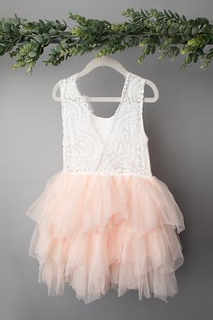 Soft Pink Angela Dress (size 6 years) BACK