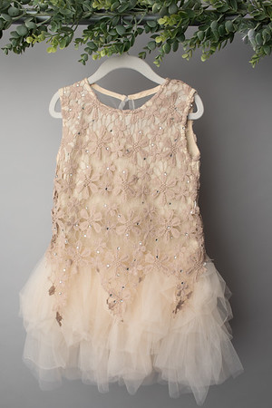 Cream Star Lace Dress (size 6 years) FRONT