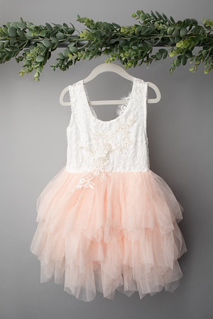 Soft Pink Angela Dress (size 6 years) FRONT