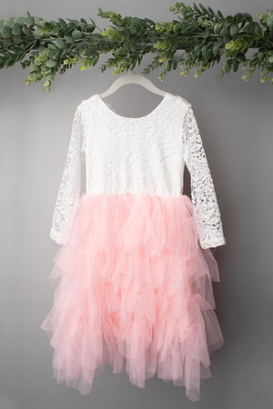 Soft Prink Long Sleeve Dress (size 4t) FRONT