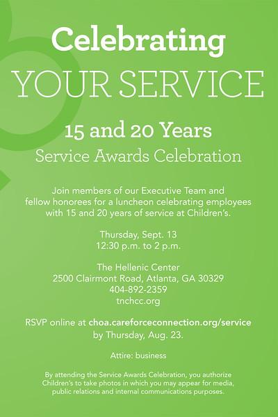 Childrens Healthcare of Atlanta Service Awards 2018 Luncheon
