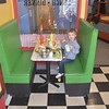 Grayson Bailey experiences the diner at the Children's Museum