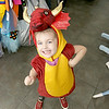 Children's closet, a consignment store for kids has opened this week on Main Street in Fitchburg. Finnely Prescott, 3, put on a dragon costume to run around her mom, Jillianne Prescott's, store on Tuesday morning. SENTINEL& ENTERPRISE/JOHN LOVE