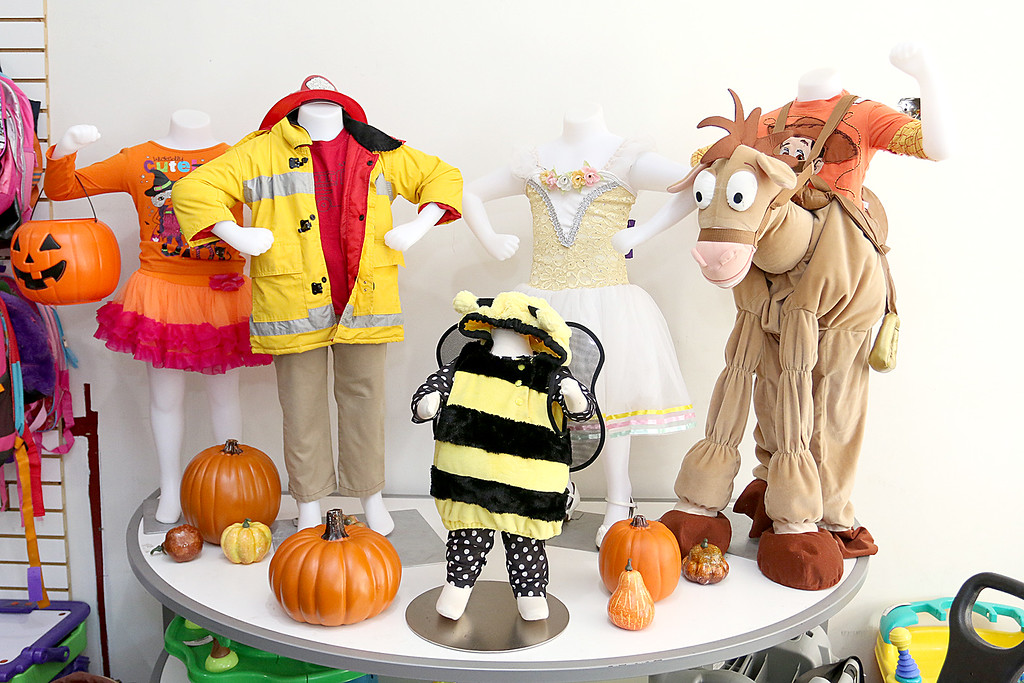 . Children\'s closet, a consignment store for kids has opened this week on Main Street in Fitchburg. It is the season for costumes and you find some at the new store. SENTINEL& ENTERPRISE/JOHN LOVE
