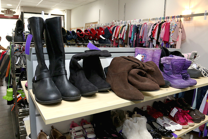Children's closet, a consignment store for kids has opened this week on Main Street in Fitchburg. The store sells shoes, boots and sneakers for kids. SENTINEL& ENTERPRISE/JOHN LOVE
