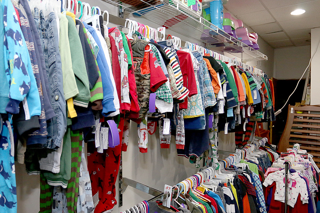 . Children\'s closet, a consignment store for kids has opened this week on Main Street in Fitchburg. Many sizes of clothes can be found in the new store.   SENTINEL& ENTERPRISE/JOHN LOVE
