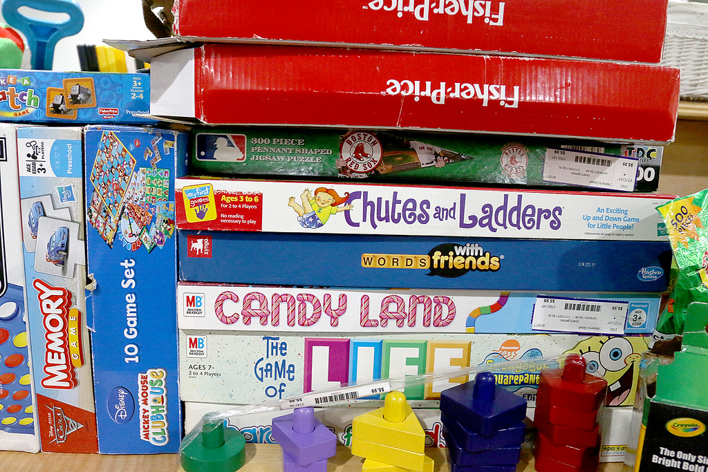 . Children\'s closet, a consignment store for kids has opened this week on Main Street in Fitchburg. They do have some of the old games for sale at the store. SENTINEL& ENTERPRISE/JOHN LOVE