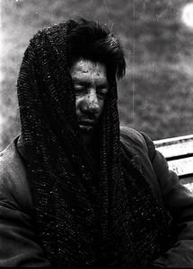 Drunk in Park, Santiago, Chile 1967 (scanned old negative)