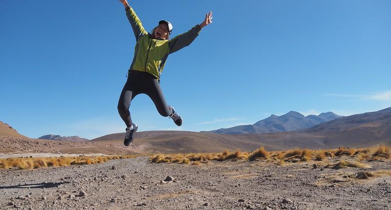 Jumping in the Atacama Desert