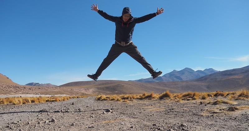 Jump shot in the Atacama Desert