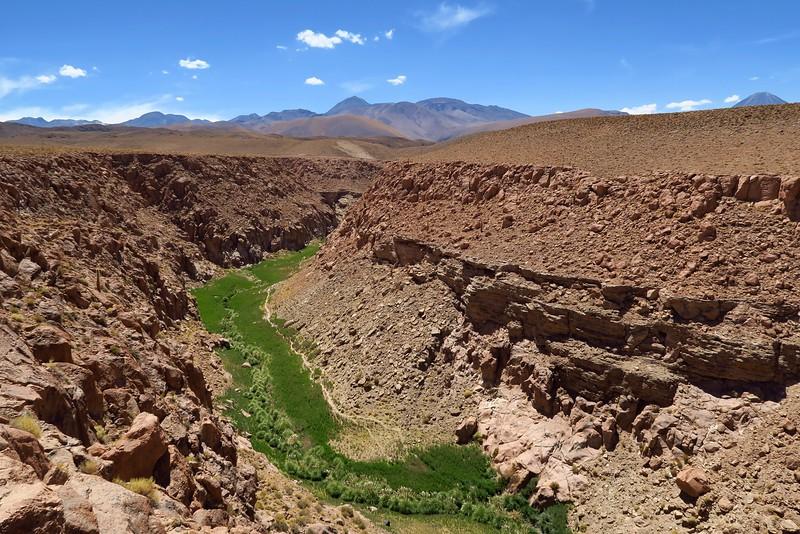 Green Canyon in the Atacama Desert