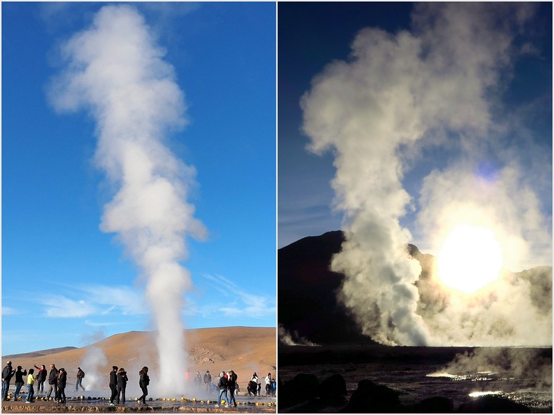 Clouds of steam in El Tatio, Chile