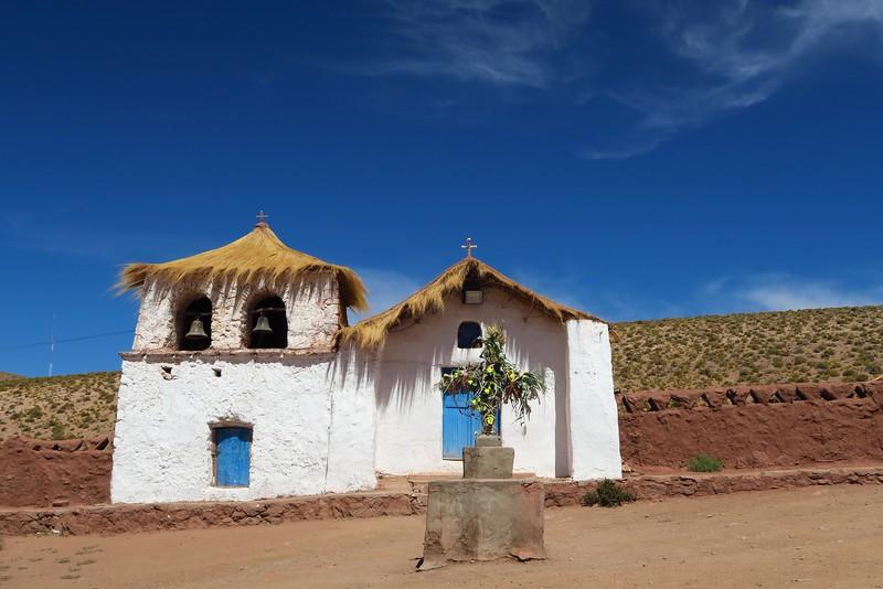 The church of Machuca, Atacama Desert