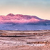 Sunset on the Andes Mountain Range