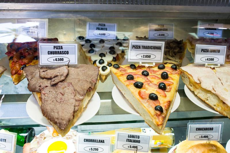 Pizza, Santiago style