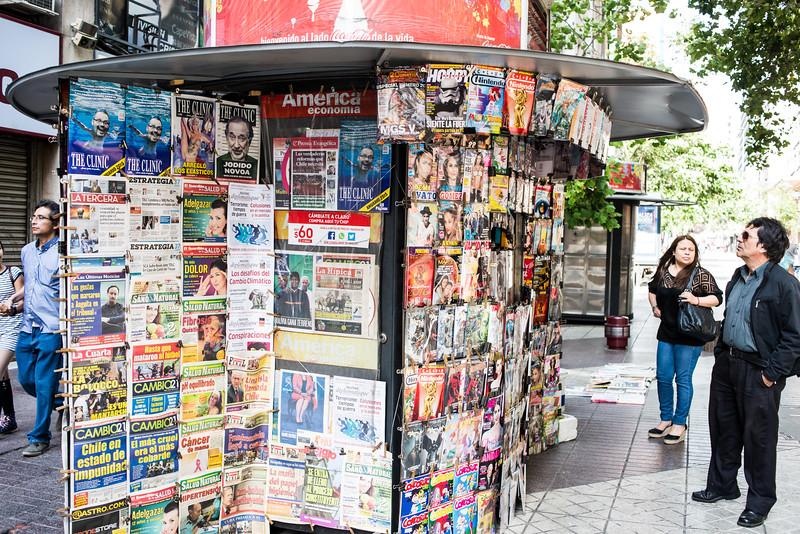 Santiago newsstand