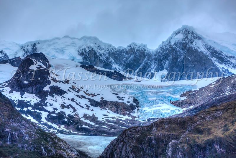 Glacier Franca, Beagle channel, Northwest Arm, Glacier Alley, Avenue of the Glaciers, Chile, Patagonia, South America.