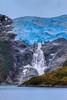 The Romanche Glacier on the Beagle Channel, Chile, South America.
